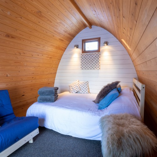 Family Glamping Pod Wood Fired Hot Tub can be delivered to your Podat Glenshee Glamping